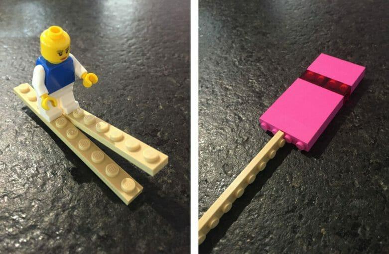 Beiger LEGO Stein